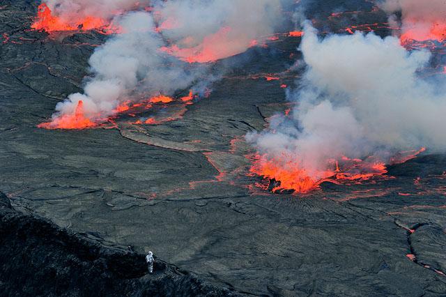 El lago de lava se eleva en un peligroso volcán africano - Alerta Geo